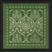 The Artwork Factory Tile 1 Framed Graphic Art; Green