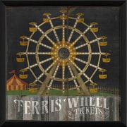 The Artwork Factory Circus Posters Ferris Wheel Framed Graphic Art; Black