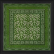 The Artwork Factory Tile 2 Framed Graphic Art; Green