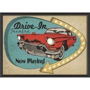 Blueprint Artwork Sign Drive In Framed Vintage Advertisement