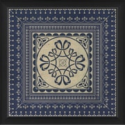 The Artwork Factory Tile 5 Framed Graphic Art; Blue