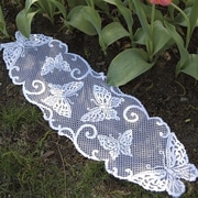 Heritage Lace Butterflies Table Runner; 54'' W x 12'' D