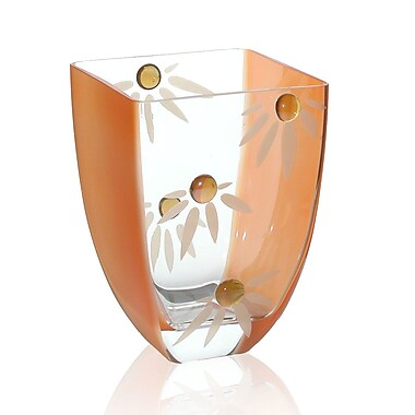 Womar Glass Love Me Not Vase; 7.5'' H x 5.5'' W x 5.5'' D