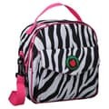 Mat Sack Rachel Placemat Lunch Bag in Zebra / Hot Pink Trim and Liner