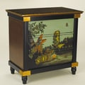 AA Importing 3 Drawer Chest with Painted Parrot Scene