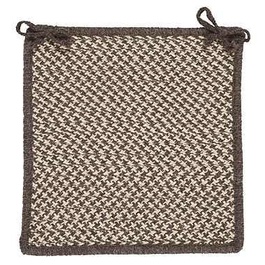 Colonial Mills Natural Wool Houndstooth Dining Chair Cushion (Set of 4); Espresso
