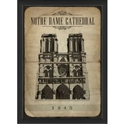 The Artwork Factory European Monuments Notre Dame Cathedral Framed Graphic Art