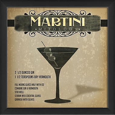 The Artwork Factory Martini Mixology Framed Graphic Art