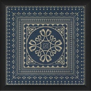 The Artwork Factory Tile 3 Framed Graphic Art; Blue