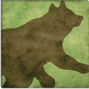 iCanvas ''Winter Lodge (Bear)'' by Color Bakery Graphic Art on Canvas; 12'' H x 12'' W x 1.5'' D