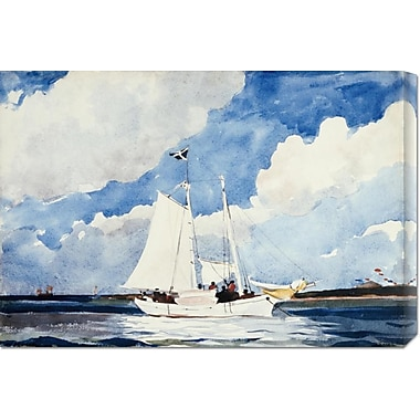 Global Gallery 'Fishing Schooner, Nassau' by Winslow Homer Painting Print on Wrapped Canvas