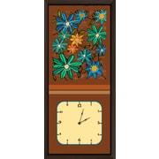 Green Leaf Art Floral Arrangements II Art Clock