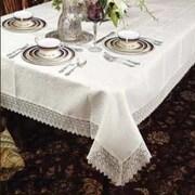 Violet Linen Treasure Lace Linen Look Tablecloth; 70  W x 180  D