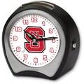Cottage Garden Collegiate Alarm Table Clock; North Carolina State University