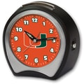 Cottage Garden Collegiate Alarm Table Clock; University of Miami