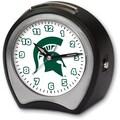 Cottage Garden Collegiate Alarm Table Clock; Michigan State University