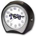 Cottage Garden Collegiate Alarm Table Clock; Texas Christian University