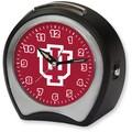Cottage Garden Collegiate Alarm Table Clock; Indiana University