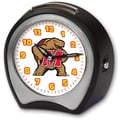 Cottage Garden Collegiate Alarm Table Clock; University of Maryland