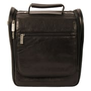Dr. Koffer Fine Leather Accessories Upright Toiletry Bag; Venetian Black