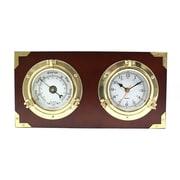 Bey-Berk Porthole Quartz Wall Clock and Barometer