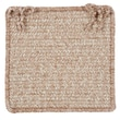 Colonial Mills Texture Woven Chair Pad (Set of 4); Buff Blend