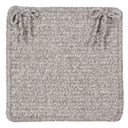 Colonial Mills Texture Woven Dining Chair Cushion; Soft Stone