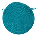Colonial Mills Boca Raton Chair Pad (Set of 4); Turquoise