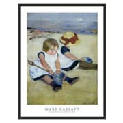 Frames By Mail 'Children Playing on the Beach' by Mary Cassatt Framed Painting Print