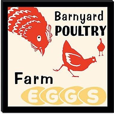 iCanvas Barnyard Poultry-Farm Eggs Framed Vintage Advertisement; 12'' H x 12'' W x 0.75'' D