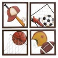 UMA Enterprises Loft Aseball D cor Wall Plaque (Set of 4)