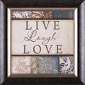 Art Effects Live Laugh Love by Jennifer Pugh Framed Textual Art