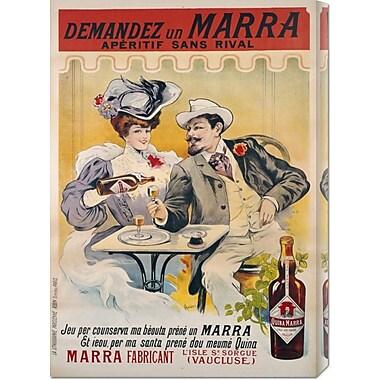 Global Gallery 'Demandez Un Marra' by Francisco Tamagno Vintage Advertisement on Wrapped Canvas