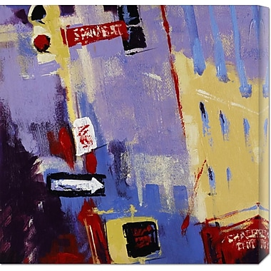 Global Gallery 'Spring Street Signage' by Patti Mollica Painting Print on Wrapped Canvas