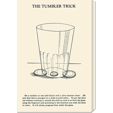 Global Gallery 'The Tumbler Trick' by Retromagic Vintage Advertisement on Wrapped Canvas