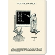 Global Gallery 'Not Like School' by Retromagic Vintage Advertisement on Wrapped Canvas