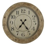 Cooper Classics Oversized 31.25'' Fairbanks Wall Clock