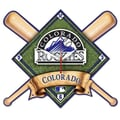 Wincraft MLB High Def Plaque Wall Clock; Colorado Rockies