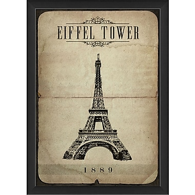 The Artwork Factory Eiffel Tower Framed Graphic Art Print