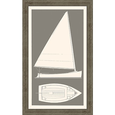Melissa Van Hise Sail Boat I Framed Graphic Art; Grey