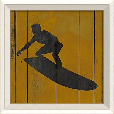 The Artwork Factory Surfer VII Framed Graphic Art in Yellow and Black