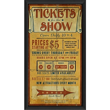 The Artwork Factory Tickets for the Show Framed Vintage Advertisement