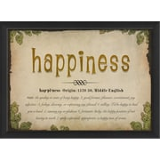 The Artwork Factory Happiness Definition Framed Textual Art