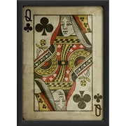 The Artwork Factory Queen of Clubs Framed Graphic Art