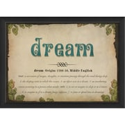 The Artwork Factory Dream Definition Framed Textual Art