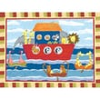 Art 4 Kids Noah s Animals Canvas Wrap Wall Art; Contemporary Mount with Beveled Edge
