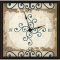 Green Leaf Art Circular Stems 11'' Art Wall Clock