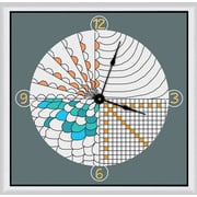 Green Leaf Art Camera Focus 16'' Art Wall Clock
