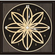 Green Leaf Art Star 20'' Art Wall Clock