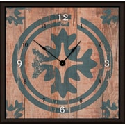 Green Leaf Art Floral Target 16'' Art Wall Clock